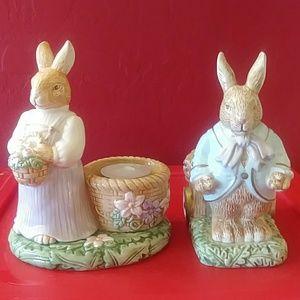 2 Avon Tealight Candle Holders